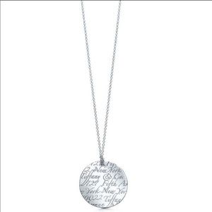 Tiffany & Co. Notes Round Silver Pendant Necklace